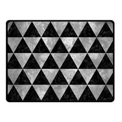 Triangle3 Black Marble & Gray Metal 2 Double Sided Fleece Blanket (small)  by trendistuff