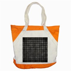 Woven1 Black Marble & Gray Metal 2 Accent Tote Bag by trendistuff
