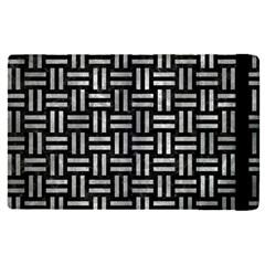 Woven1 Black Marble & Gray Metal 2 Apple Ipad Pro 9 7   Flip Case by trendistuff