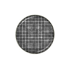 Woven1 Black Marble & Gray Metal 2 (r) Hat Clip Ball Marker by trendistuff