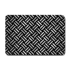 Woven2 Black Marble & Gray Metal 2 Small Doormat  by trendistuff