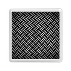 Woven2 Black Marble & Gray Metal 2 Memory Card Reader (square)  by trendistuff