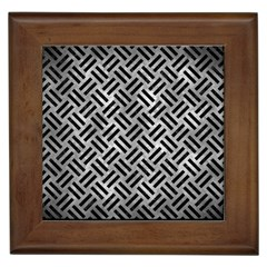 Woven2 Black Marble & Gray Metal 2 (r) Framed Tiles by trendistuff