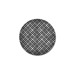 Woven2 Black Marble & Gray Metal 2 (r) Golf Ball Marker by trendistuff