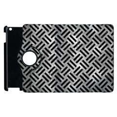 Woven2 Black Marble & Gray Metal 2 (r) Apple Ipad 3/4 Flip 360 Case by trendistuff