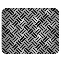 Woven2 Black Marble & Gray Metal 2 (r) Double Sided Flano Blanket (medium)  by trendistuff