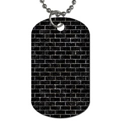 Brick1 Black Marble & Gray Stone Dog Tag (two Sides) by trendistuff