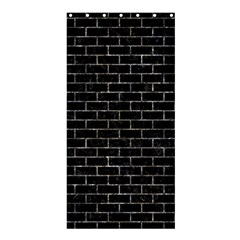 Brick1 Black Marble & Gray Stone Shower Curtain 36  X 72  (stall)  by trendistuff