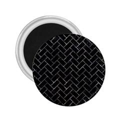 Brick2 Black Marble & Gray Stone 2 25  Magnets by trendistuff