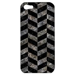 Chevron1 Black Marble & Gray Stone Apple Iphone 5 Hardshell Case by trendistuff