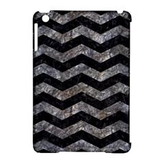 Chevron3 Black Marble & Gray Stone Apple Ipad Mini Hardshell Case (compatible With Smart Cover) by trendistuff