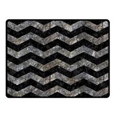 Chevron3 Black Marble & Gray Stone Double Sided Fleece Blanket (small)  by trendistuff