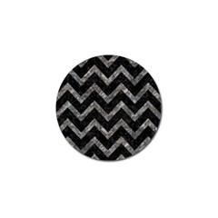 Chevron9 Black Marble & Gray Stone Golf Ball Marker (4 Pack) by trendistuff