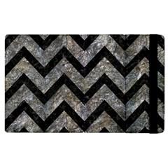 Chevron9 Black Marble & Gray Stone (r) Apple Ipad 3/4 Flip Case by trendistuff