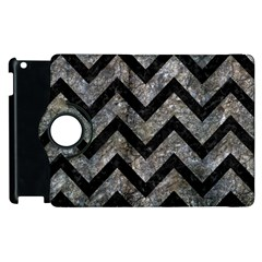 Chevron9 Black Marble & Gray Stone (r) Apple Ipad 2 Flip 360 Case by trendistuff