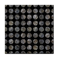Circles1 Black Marble & Gray Stone Face Towel by trendistuff