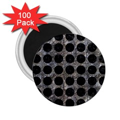 Circles1 Black Marble & Gray Stone (r) 2 25  Magnets (100 Pack)
