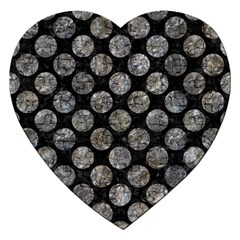 Circles2 Black Marble & Gray Stone Jigsaw Puzzle (heart) by trendistuff
