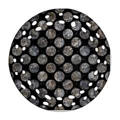 Circles2 Black Marble & Gray Stone Ornament (round Filigree) by trendistuff