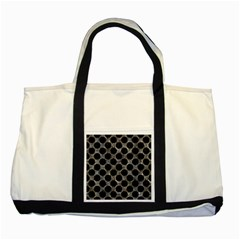 Circles2 Black Marble & Gray Stone (r) Two Tone Tote Bag by trendistuff