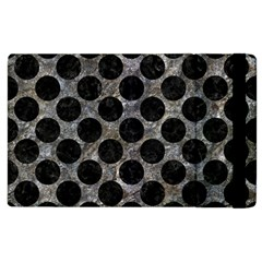 Circles2 Black Marble & Gray Stone (r) Apple Ipad 2 Flip Case by trendistuff