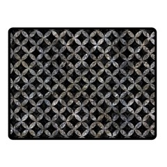 Circles3 Black Marble & Gray Stone Double Sided Fleece Blanket (small)  by trendistuff