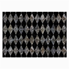 Diamond1 Black Marble & Gray Stone Large Glasses Cloth by trendistuff