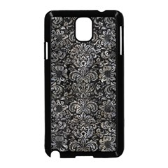 Damask2 Black Marble & Gray Stone Samsung Galaxy Note 3 Neo Hardshell Case (black) by trendistuff