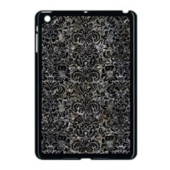 Damask2 Black Marble & Gray Stone (r) Apple Ipad Mini Case (black) by trendistuff