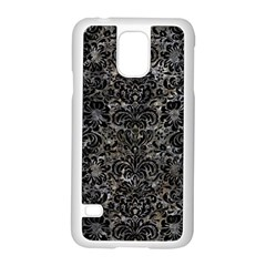 Damask2 Black Marble & Gray Stone (r) Samsung Galaxy S5 Case (white) by trendistuff