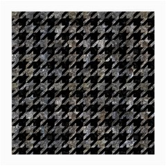 Houndstooth1 Black Marble & Gray Stone Medium Glasses Cloth (2 Side) by trendistuff