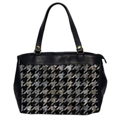 Houndstooth1 Black Marble & Gray Stone Office Handbags (2 Sides)