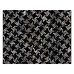Houndstooth2 Black Marble & Gray Stone Rectangular Jigsaw Puzzl by trendistuff