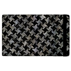 Houndstooth2 Black Marble & Gray Stone Apple Ipad 2 Flip Case by trendistuff