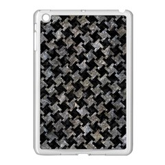 Houndstooth2 Black Marble & Gray Stone Apple Ipad Mini Case (white) by trendistuff