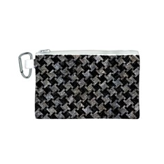 Houndstooth2 Black Marble & Gray Stone Canvas Cosmetic Bag (s) by trendistuff