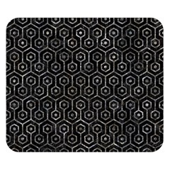 Hexagon1 Black Marble & Gray Stone Double Sided Flano Blanket (small)  by trendistuff