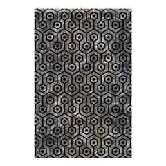Hexagon1 Black Marble & Gray Stone (r) Shower Curtain 48  X 72  (small)  by trendistuff