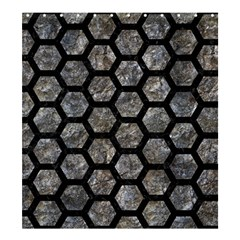 Hexagon2 Black Marble & Gray Stone (r) Shower Curtain 66  X 72  (large)  by trendistuff