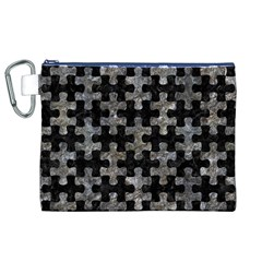Puzzle1 Black Marble & Gray Stone Canvas Cosmetic Bag (xl) by trendistuff