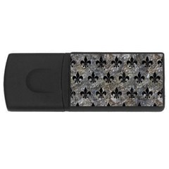 Royal1 Black Marble & Gray Stone Rectangular Usb Flash Drive by trendistuff