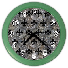 Royal1 Black Marble & Gray Stone Color Wall Clocks by trendistuff