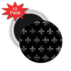 Royal1 Black Marble & Gray Stone (r) 2 25  Magnets (10 Pack)  by trendistuff