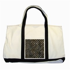 Scales1 Black Marble & Gray Stone (r) Two Tone Tote Bag by trendistuff