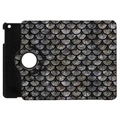 Scales3 Black Marble & Gray Stone (r) Apple Ipad Mini Flip 360 Case by trendistuff