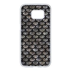 Scales3 Black Marble & Gray Stone (r) Samsung Galaxy S7 Edge White Seamless Case by trendistuff