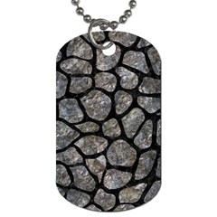Skin1 Black Marble & Gray Stone Dog Tag (two Sides) by trendistuff