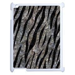 Skin3 Black Marble & Gray Stone (r) Apple Ipad 2 Case (white) by trendistuff