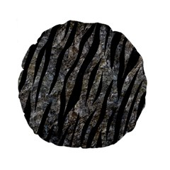 Skin3 Black Marble & Gray Stone (r) Standard 15  Premium Flano Round Cushions by trendistuff