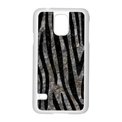 Skin4 Black Marble & Gray Stone Samsung Galaxy S5 Case (white) by trendistuff